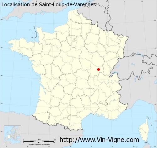Carte de Saint-Loup-de-Varennes