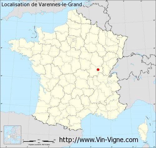 Carte  de Varennes-le-Grand