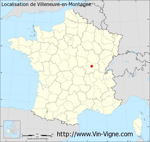 Carte de Villeneuve-en-Montagne