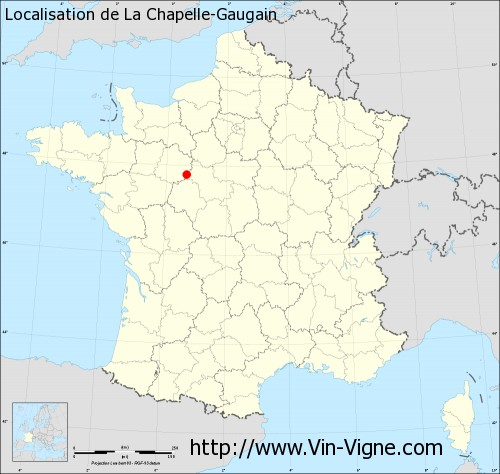 Carte de La Chapelle-Gaugain