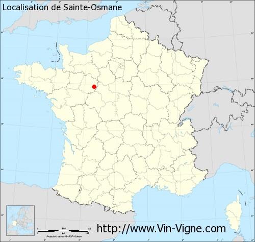 Carte de Sainte-Osmane