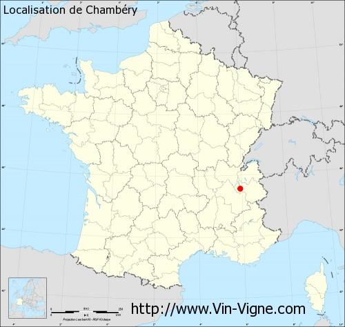 Carte de Chambéry