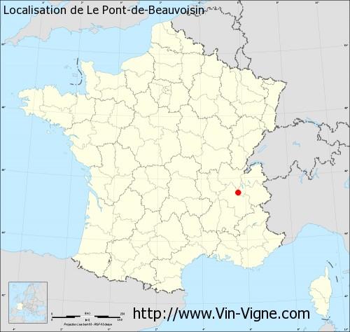 pont de beauvoisin carte Village de Le Pont de Beauvoisin (73330) : Informations viticoles