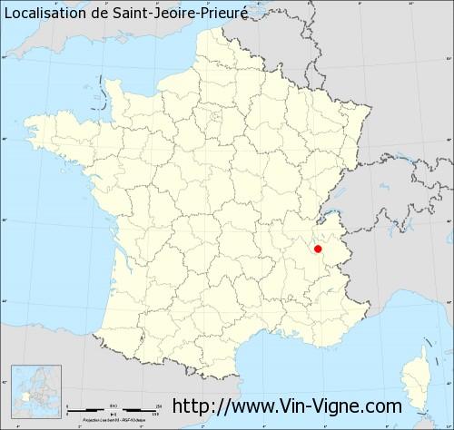 Carte de Saint-Jeoire-Prieuré