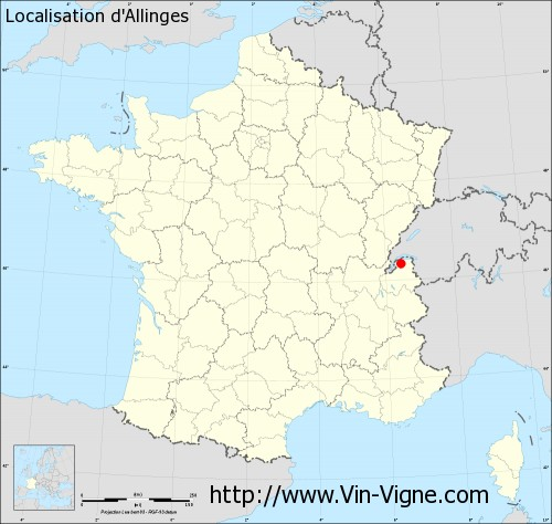 Carte  d'Allinges