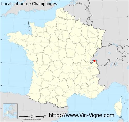 Carte de Champanges