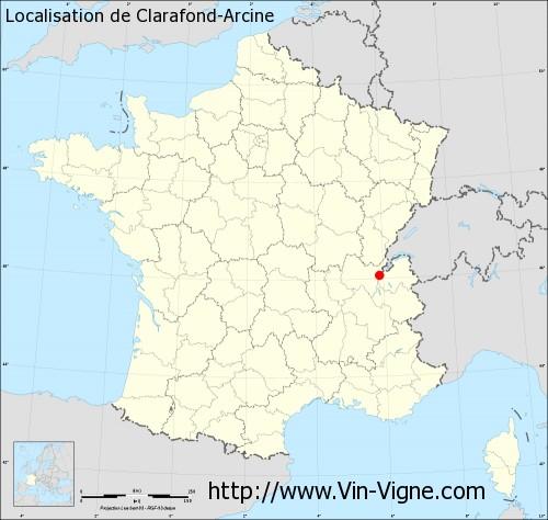 Carte de Clarafond-Arcine