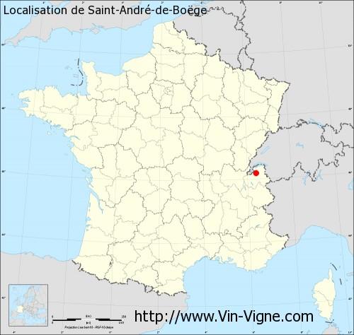 Carte de Saint-André-de-Boëge