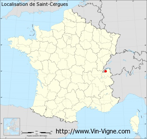 Carte de Saint-Cergues