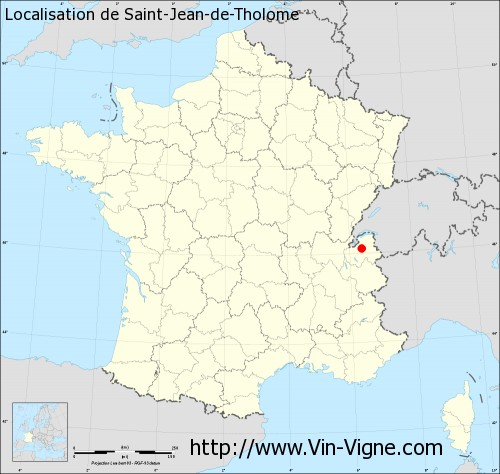 Carte de Saint-Jean-de-Tholome