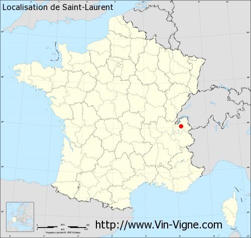Carte de Saint-Laurent