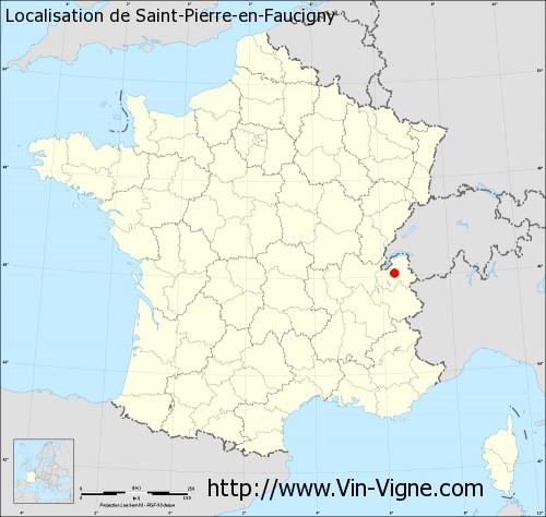 Carte de Saint-Pierre-en-Faucigny