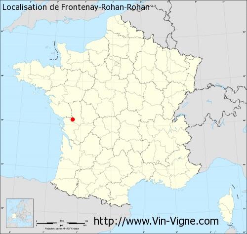 Carte de Frontenay-Rohan-Rohan