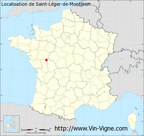 Carte de Saint-Léger-de-Montbrun