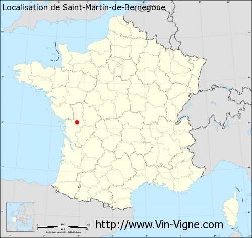 Carte de Saint-Martin-de-Bernegoue