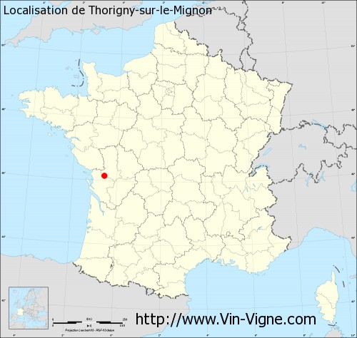 Carte de Thorigny-sur-le-Mignon