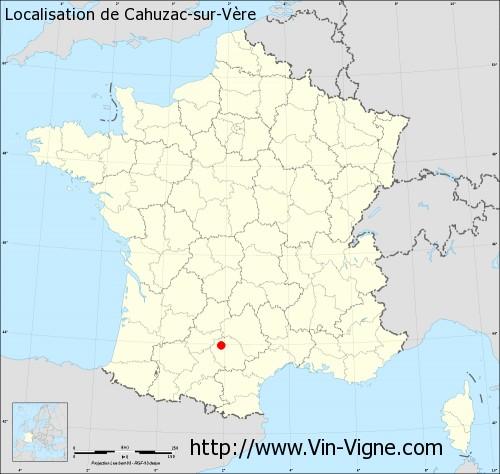 Carte de Cahuzac-sur-Vère