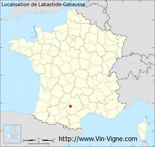 Carte de Labastide-Gabausse
