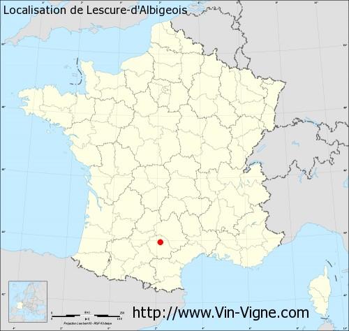 Carte de Lescure-d'Albigeois