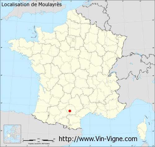 Carte  de Moulayrès