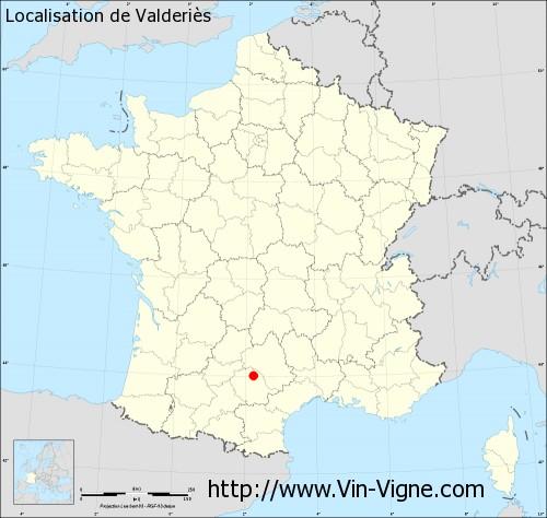 Carte de Valderiès
