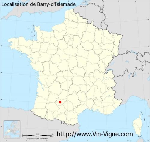 Carte de Barry-d'Islemade