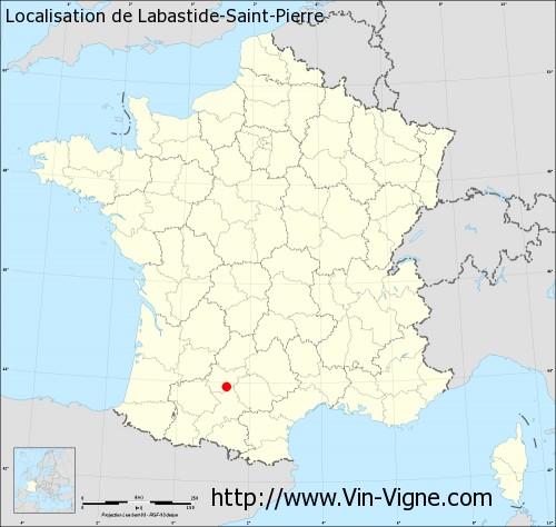Carte de Labastide-Saint-Pierre