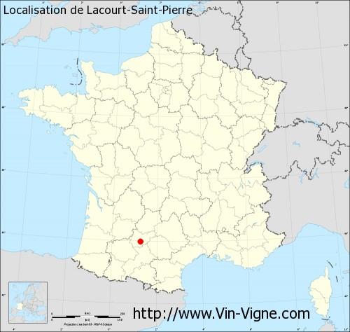 Carte de Lacourt-Saint-Pierre