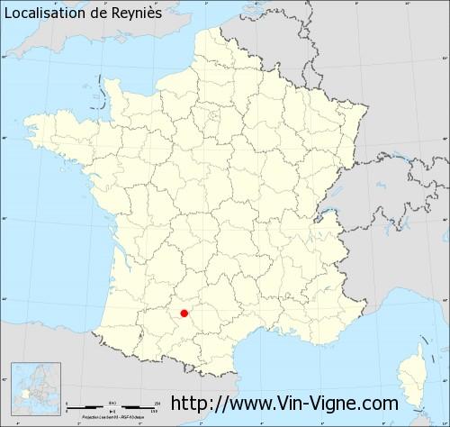 Carte de Reyniès