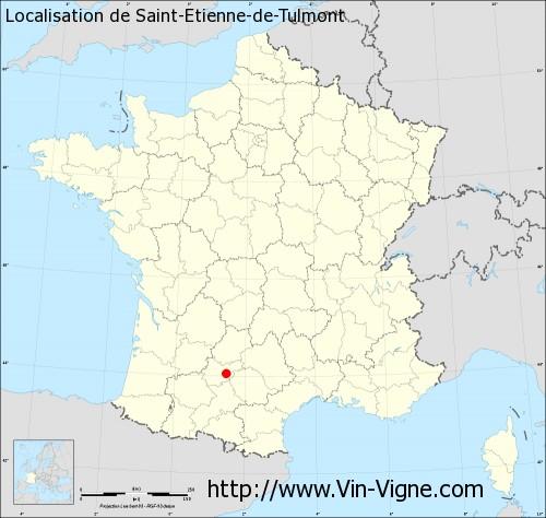 Carte de Saint-Etienne-de-Tulmont