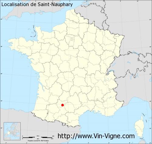 Carte de Saint-Nauphary