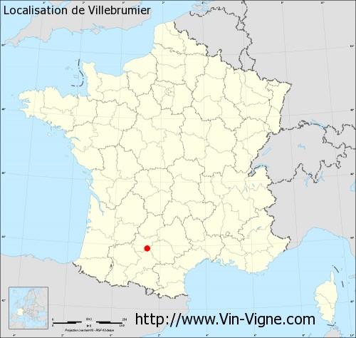 Carte de Villebrumier