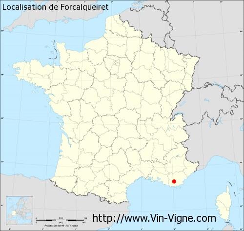 Carte de Forcalqueiret