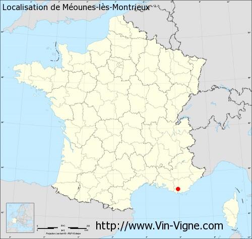 Carte de Méounes-lès-Montrieux