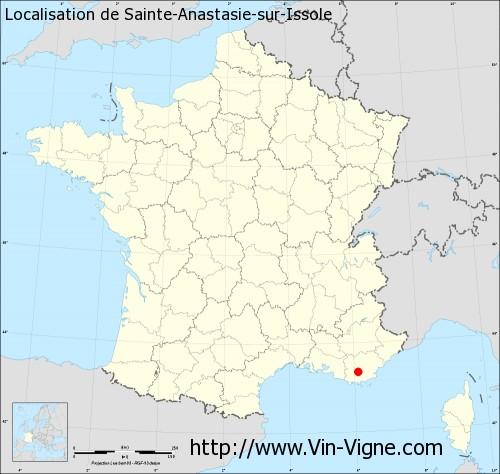 Carte  de Sainte-Anastasie-sur-Issole