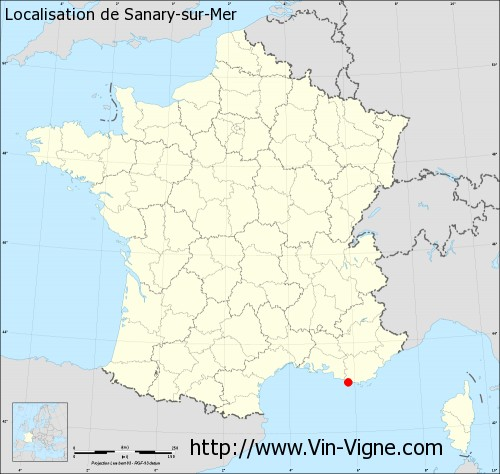 Carte de Sanary-sur-Mer