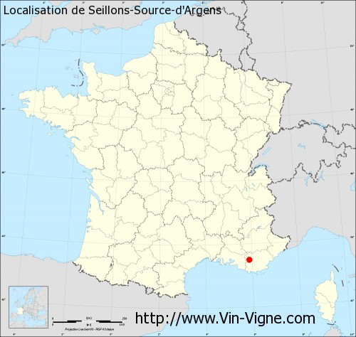 Carte de Seillons-Source-d'Argens