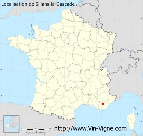Carte de Sillans-la-Cascade