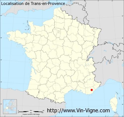Carte de Trans-en-Provence