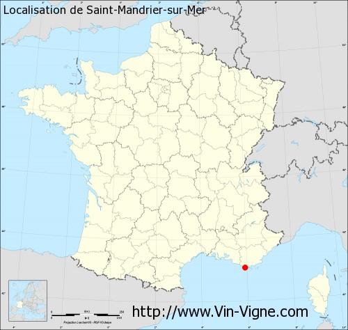 Carte de Saint-Mandrier-sur-Mer