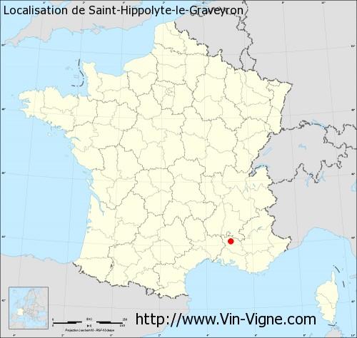 Carte de Saint-Hippolyte-le-Graveyron