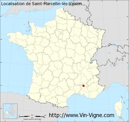Carte de Saint-Marcellin-lès-Vaison