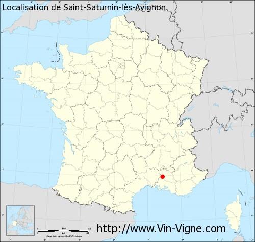 Carte de Saint-Saturnin-lès-Avignon