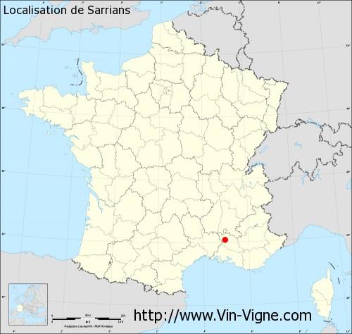 Carte de Sarrians