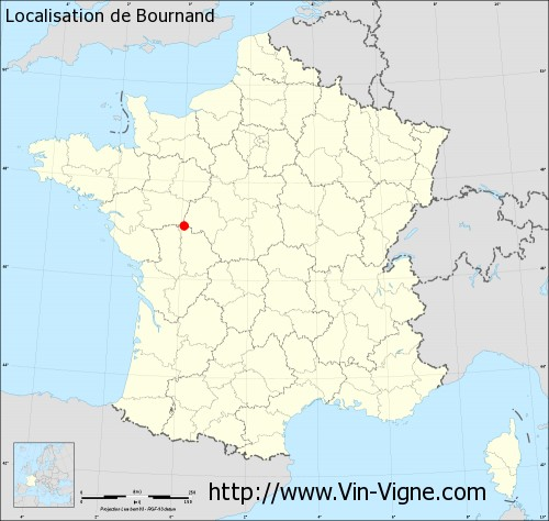 Carte de Bournand