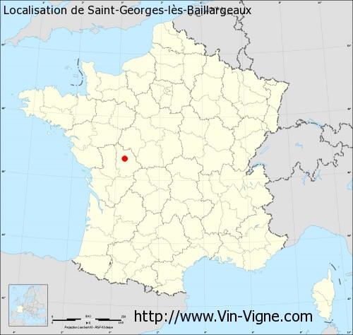Carte de Saint-Georges-lès-Baillargeaux