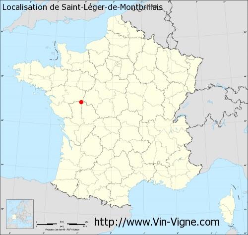Carte de Saint-Léger-de-Montbrillais
