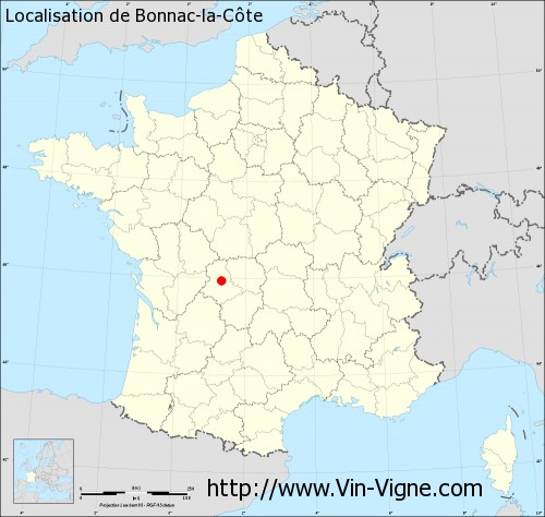 Carte de Bonnac-la-Côte