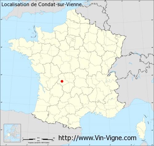 Carte de Condat-sur-Vienne