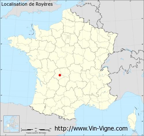 Carte de Royères